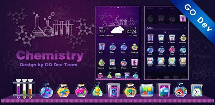Chemistry GO Launcher EX Theme apk
