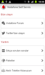 Vodafone Self Servis - screenshot thumbnail