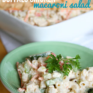 Buffalo Chicken Macaroni Salad.