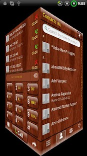GOContacts theme Mahogany Wood- screenshot thumbnail