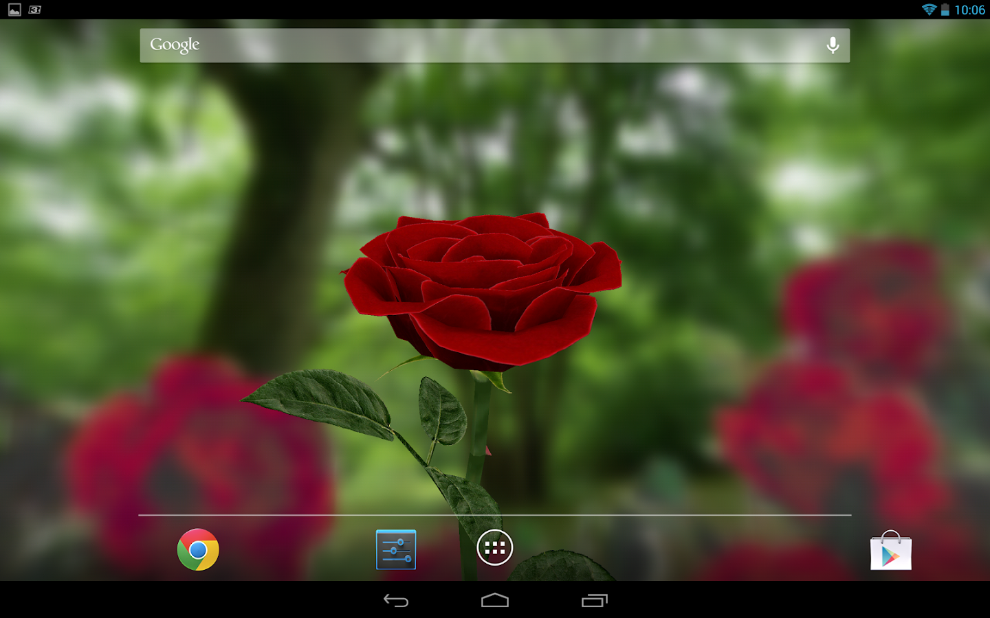Hd for desktop nice rose mobile wallpapers 3d rose wallpaper free - 3d Rose Live Wallpaper Free Screenshot