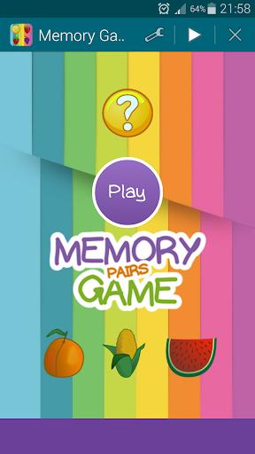 Foods Memory Game Pairs