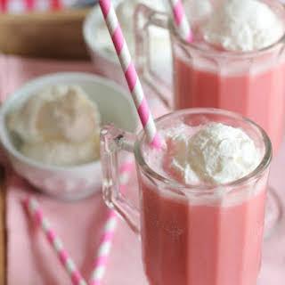 Frozen Strawberry Milk Slushy.
