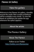 Screenshot of Art London from Flaneur