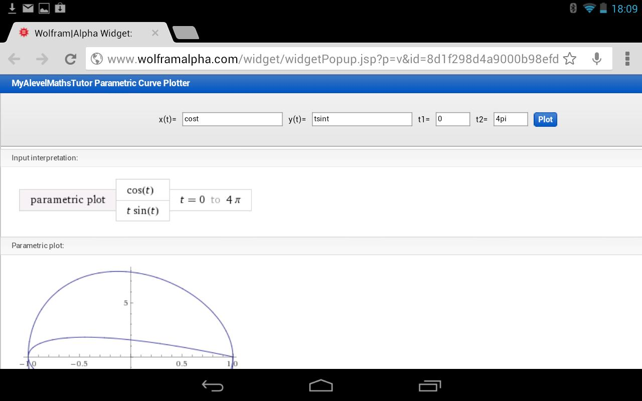 Parametric Graph Calculator - screenshot