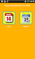Screenshot of Days and Months Kids Flashcard