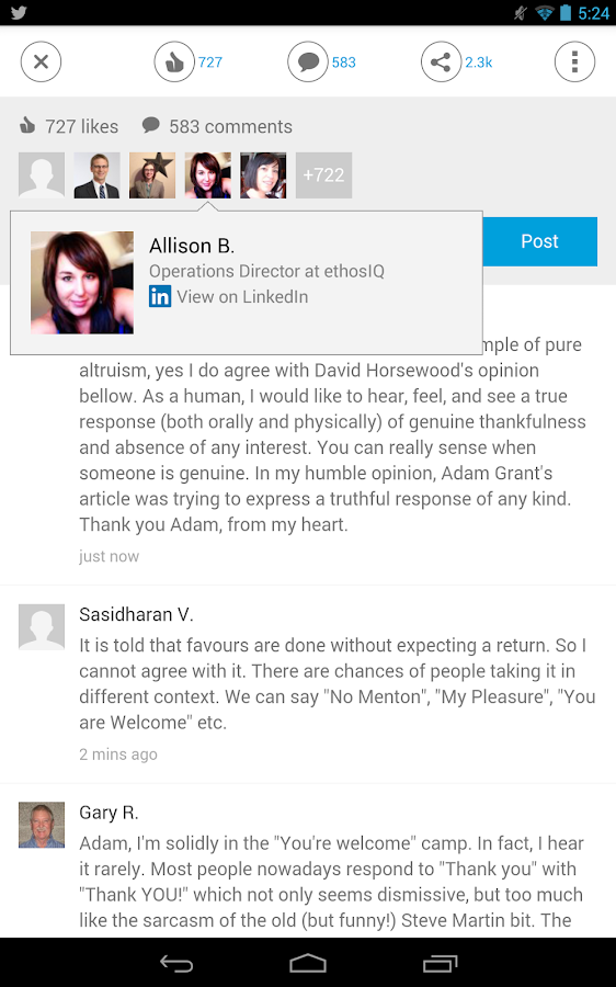 LinkedIn Pulse - screenshot