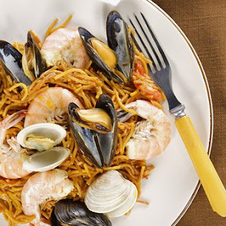 Fideos with Seafood.