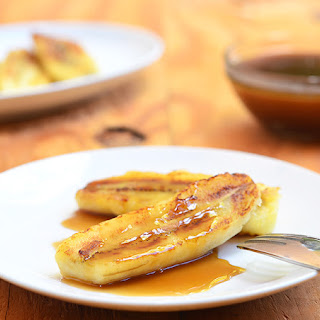 Fried Bananas with Salted Caramel Coconut Sauce