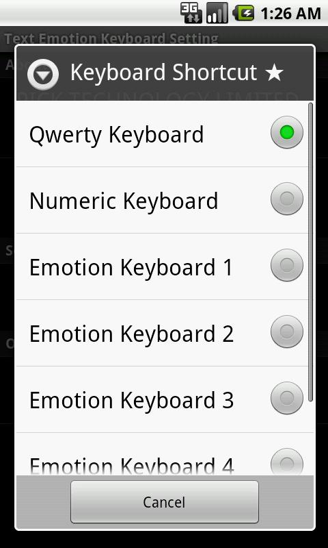 Text Emotion Keyboard - screenshot