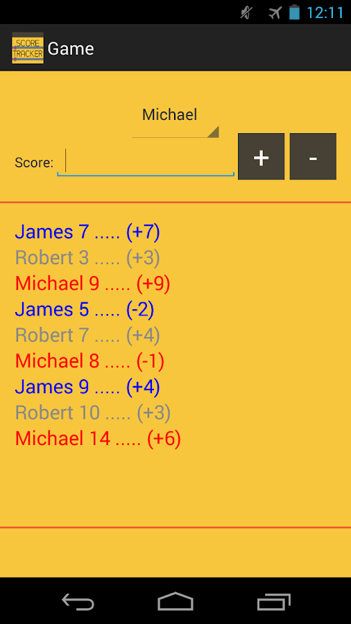 Whizz Score Tracker - screenshot