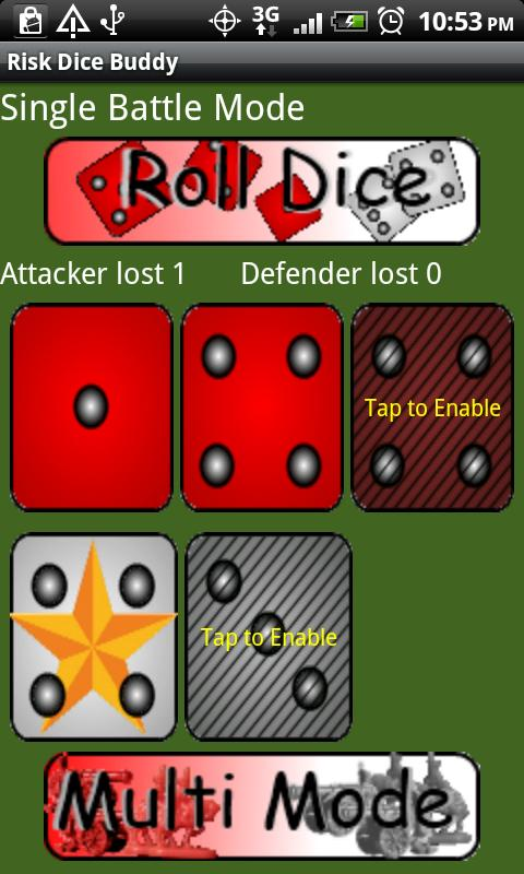 Risk Dice Buddy- screenshot
