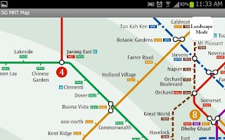 Screenshot of Singapore MRT Map