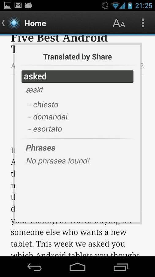 Dictionary Italian English - screenshot