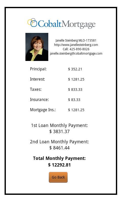 Janelle Steinberg's Mortgage - screenshot