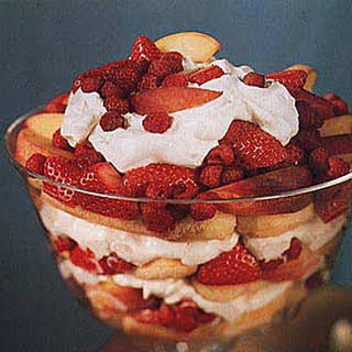 Peach and Berry Trifle.