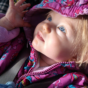 by Helen Jamison - Babies & Children Babies ( girl, sweet, beautiful, baby girl, blue eyes, pink, baby,  )