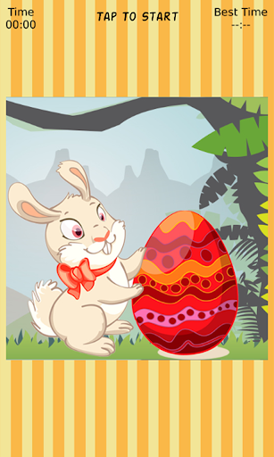 Easter Bunny Sliding Puzzle