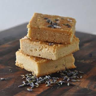 Lavender-Sea Salt Shortbread.