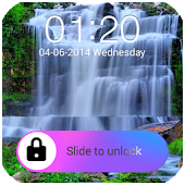 Waterfall Hd Go Locker Theme