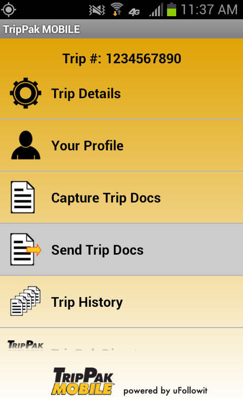 TripPak MOBILE - screenshot