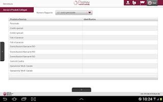 Screenshot of Banca MPS per Tablet