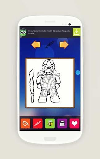 Lago Ninja Go Coloring Page
