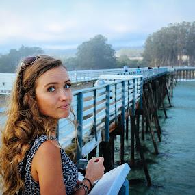 Heidi by Cody Coker - People Portraits of Women ( girls, waves, peir, beautiful, blue eyes, pier, ocean, beach, bigsur, beautiful girl )