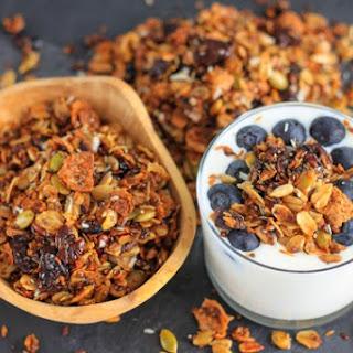 Healthy Chia, Coconut and Cherries Granola