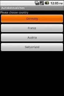 Autokennzeichen App