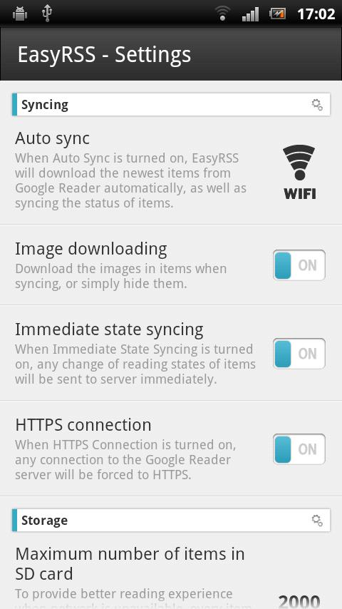 EasyRSS (Google Reader | RSS) - screenshot