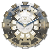 Clock Widget Iron Sun