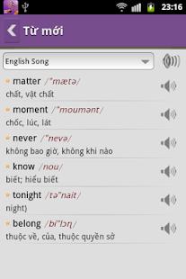 Hoc Tieng Anh Qua Bai Hat - screenshot thumbnail