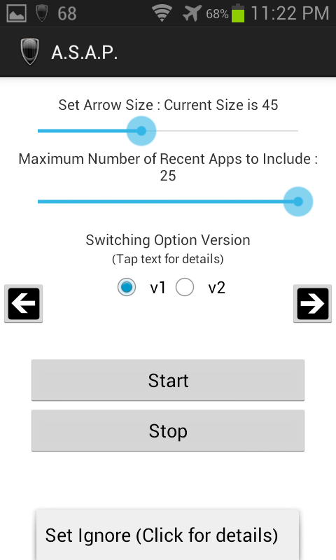 App Switcher Android Pro(ASAP)- screenshot