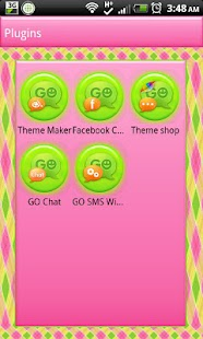 GO SMS THEME|PrettyPattern- screenshot thumbnail