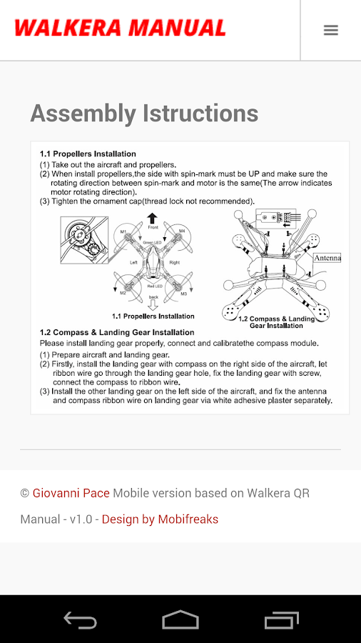 Walkera QR Drone Manual - screenshot