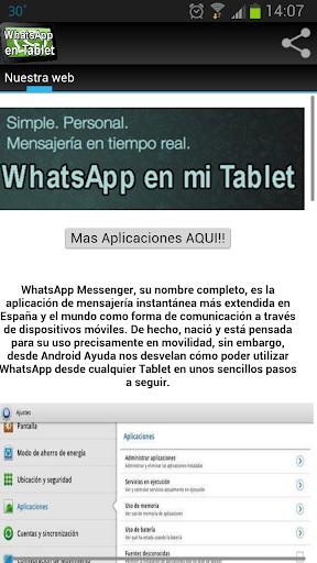 Instalar WhatsAp en Tablet