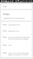 Screenshot of Urban Slang Dictionary