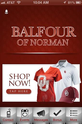 Balfour of Norman Sooner Gear