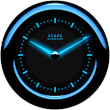 Laser Clock Widget A-BLUE icon