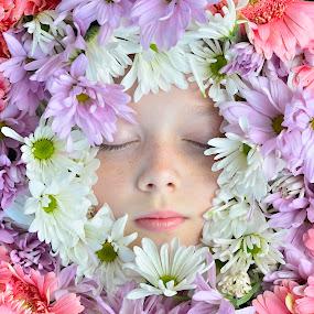 Flower Girl by Tina Marie - Babies & Children Child Portraits ( child, flower arrangements, flowers, flower girl,  )