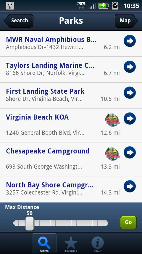 Mobile RVing- screenshot