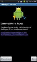 Screenshot of Rocklogger Unlocker