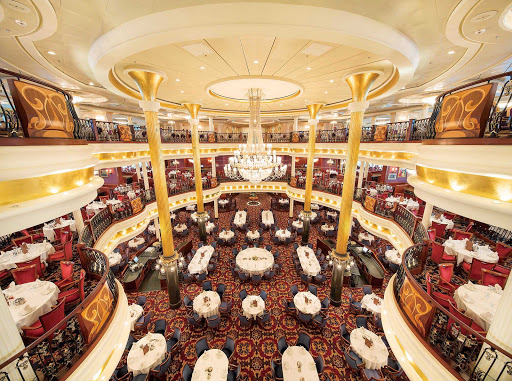 Mariner-of-the-Seas-Main-Dining - Mariner of the Seas' lovely three-story main dining room serves multi-course breakfasts, lunches and dinners.