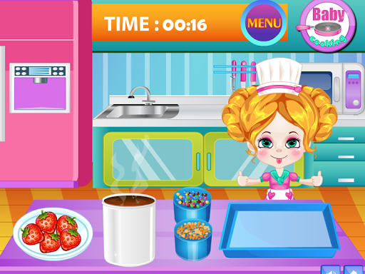Baby Strawberry Cake Cooking
