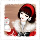 White Christmas kakao theme icon
