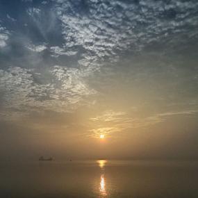 Emerging from River by Kingshuk Mondal - Landscapes Sunsets & Sunrises ( sky, nature, sunrise, landscape, river )