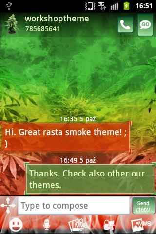 GO SMS Pro Weed Ganja Buy
