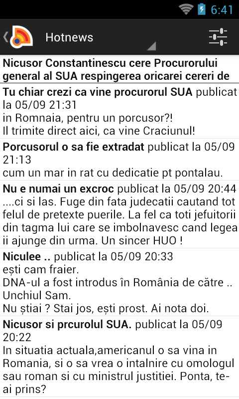 Stiri din Romania- screenshot