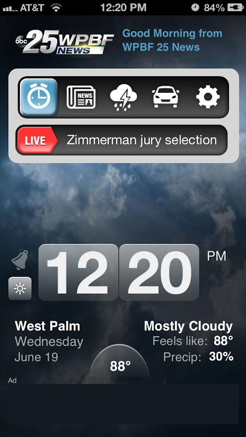 Alarm Clock WPBF 25 News - screenshot